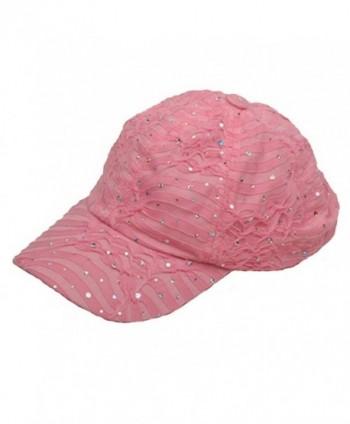 SS Sophia Glitter Caps Pink OSFM in Women's Baseball Caps