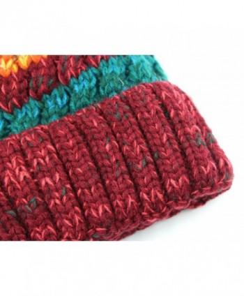 00916f921cd Available. Women Winter Warm Knit Beanie Hat Fleece Lined Striped Ski Cap  with Fur Pom Pom ...