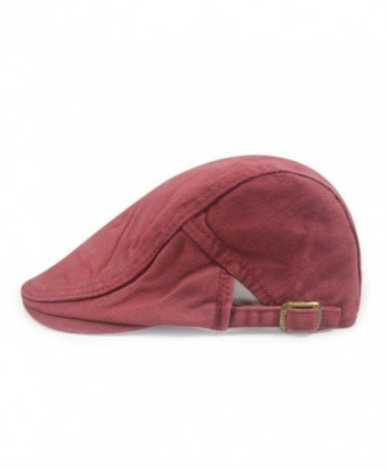 Gumstyle FASHION Men Womens Duckbill Ivy Cap Golf Driving Flat Cabbie Newsboy Beret Hat Solid Color - Red - C712F8FXVOP