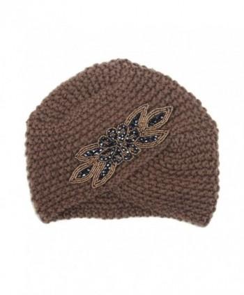 Vcenty Womens Braided Turban Headdress in Women's Skullies & Beanies