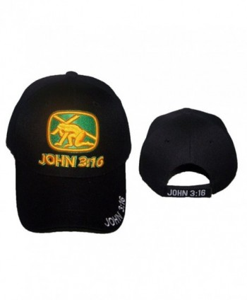 John 3:16 Bible Cross Christian Catholic Religious Baseball Caps Hats Embroidered (ACCap319) - CT17YH49TSA