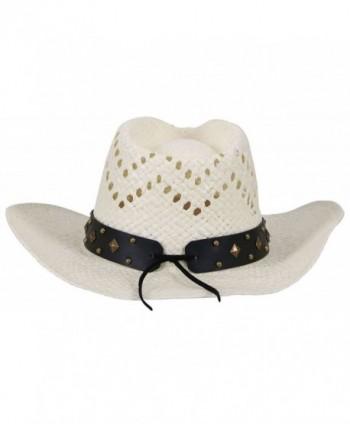 e13f7bfa1 Men / Women's Western Cowboy Straw Hat with Shapeable Brim - Ivory_bull -  CM12HXHKAIZ