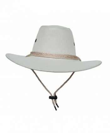 COMVIP Unisex Adult Cotton Adjustable Cycling Cowboy Hat - White - CB1820D0K0N