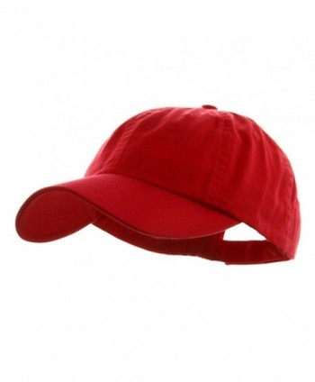 Wholesale Low Profile Dyed Soft Hand Feel Cotton Twill Caps Hats (Red) - 21204 - CX112GBW5BZ