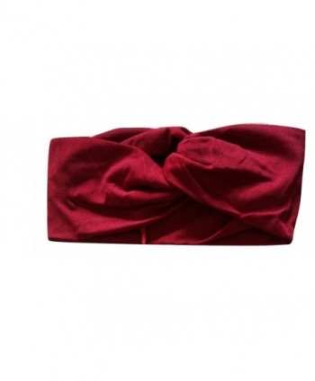 Sporty Shimmer Anne Shine Twist Headband (Wine Red) - Wine Red - CQ12NRYT7JT