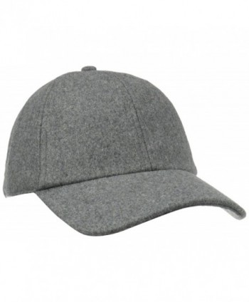 San Diego Hat Company Women's Wool Baseball Hat with Adjustable Back - Charcoal - CM11CZVGAZR