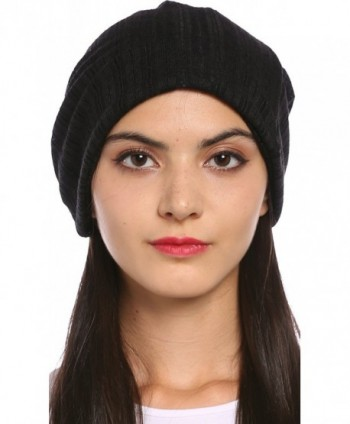 Ababalaya Women's Soft Breathable Knitted Cotton Pregnant Cap Chemo Beanie Nightcap - Black - CN1827ZUODU