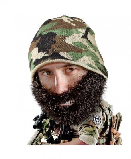 Beard Head - The Original Bushy Duke Knit Beard Beanie - Black - C011Q08HLJ1
