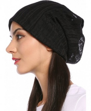 Ababalaya Breathable Knitted Pregnant Nightcap in Women's Skullies & Beanies
