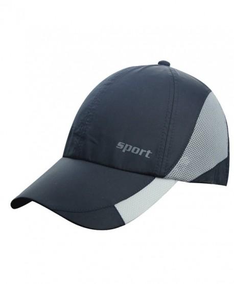 803713706eb Men Women Summer Mesh Snapback Running Baseball Tennis Ball Golf hats Caps  Visor - Navy - C412G5RMRO5