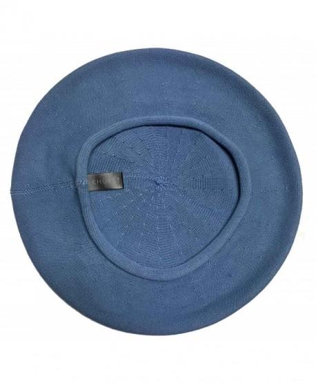 Parkhurst of Canada 11-1/2 Inch Cotton Knit Beret - Reef Blue - CG18CDL4ELH
