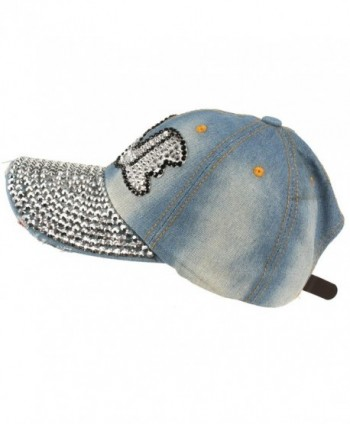 Bubble Rhinestone Baseball Hat Adjustable