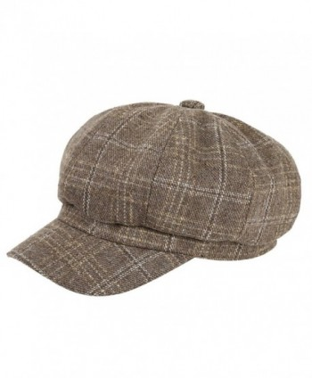 VBIGER newsboy Hat Beret Hat Fedora Wool Blend Cap Collection Hats Cabbie Visor Cap For Men Women - Z-khaki - CM1894R5LMD