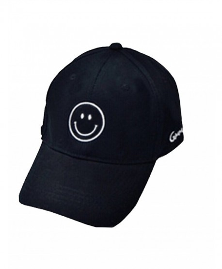 02fabddd420b1 Moore Cool Mens Baseball Cap Smile Adjustable Printed Unisex Hip Pop Flat  Hats - Black-