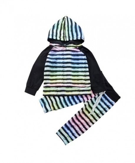 LUNIWEI Baby Boy Girl Clothes Long Sleeve Striped Hooded Romper Jumpsuit - Stripe Black - C4187I5U007