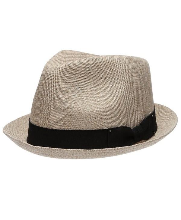 Men's Summer Lightweight Linen Fedora Hat - A NATURAL - CS12GW4A6P7
