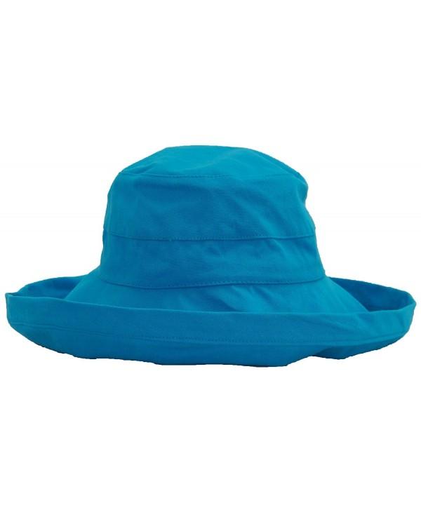 Milani Women's Packable & Versatile Large Brim Summer Bucket Hat (One Size) - Blue - C311MTAYI71