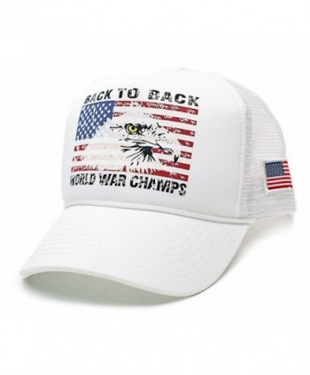 Eagle Back To Back World War Champs Unisex-Adult Trucker Hat -One-Size - White/white - CQ12GU2IF3R