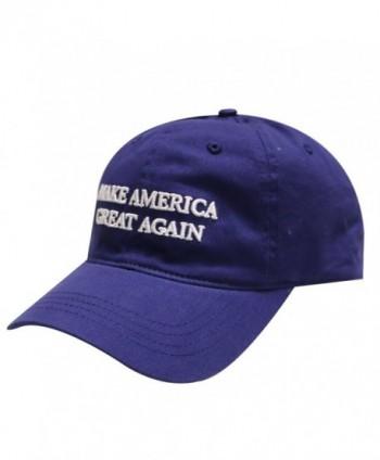 C104 Trump Make America Great Again Cotton Baseball Cap Navy - C412CMXKN01