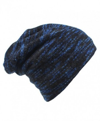 Magarrow Men&lsquos and Women's Winter Wool Warm Hat Beanie Cap Daily Slouchy Hat - Blue - C91860QL6NM