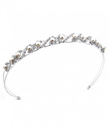 Shop Ginger Wedding White Pearl Headband Bridal Tiara Crystal Prom Party1016 - CE110V5KPG5