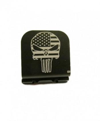 American Flag Skull Laser Etched Hat Clip Black - C3129HK6095
