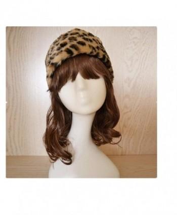 Tuscom Women Faux Fur Beanie Warm Winter Keep Warm Hat Gloves Pocket - Yellow - CE12O9X85UX