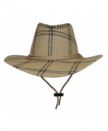 COMVIP Unisex Adult Cotton Adjustable Cycling Cowboy Hat - Khaki - C8182G4HY37