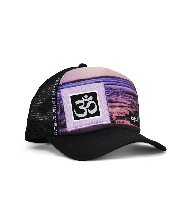 bigtruck Original Yoga Mesh Snapback Trucker Hat- Sublimated Lines - CB12E6U5TUH