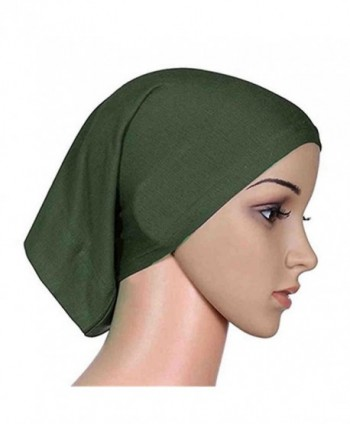 Women's Muslim Islamic Solid Cotton Hijab Cap Head Scarf Shawl Turban Headbands - 6 - CL184TX0USG