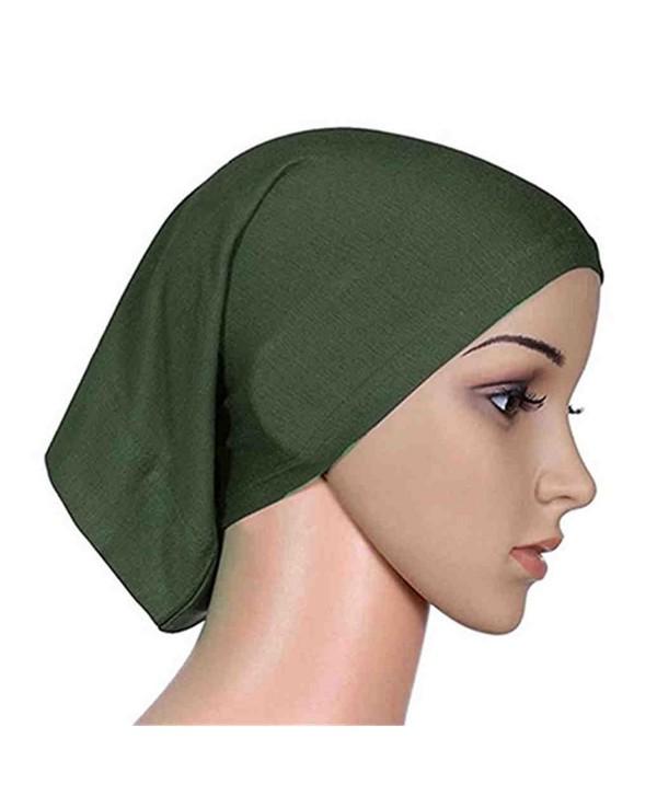 Women's Muslim Islamic Solid Cotton Hijab Cap Head Scarf Shawl Turban Headbands - 6 - CL184TX0USG