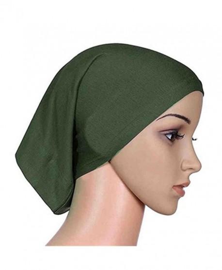 Women s Muslim Islamic Solid Cotton Hijab Cap Head Scarf Shawl Turban  Headbands - 6 - CL184TX0USG 88ece09a7ad