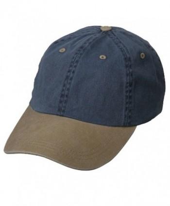 Wholesale Low Profile Pigment Dyed Cotton Twill Caps Hats (Navy/Khaki) - 21242 - CQ11174X7H3