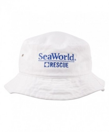 SeaWorld Rescue White Adult Bucket Hat - CY1295I5F1X