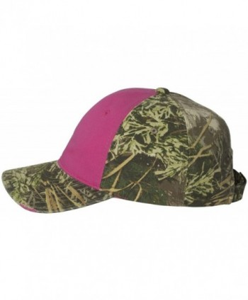 Outdoor Cap - Frayed Women's Camouflage Cap - CGWT611 - Fuchsia/ Realtree Max-1 - CR11W5DAB69