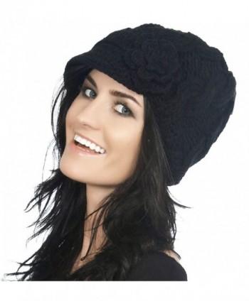 Simplicity Womens Winter Beanie 1128_Black in Women's Skullies & Beanies