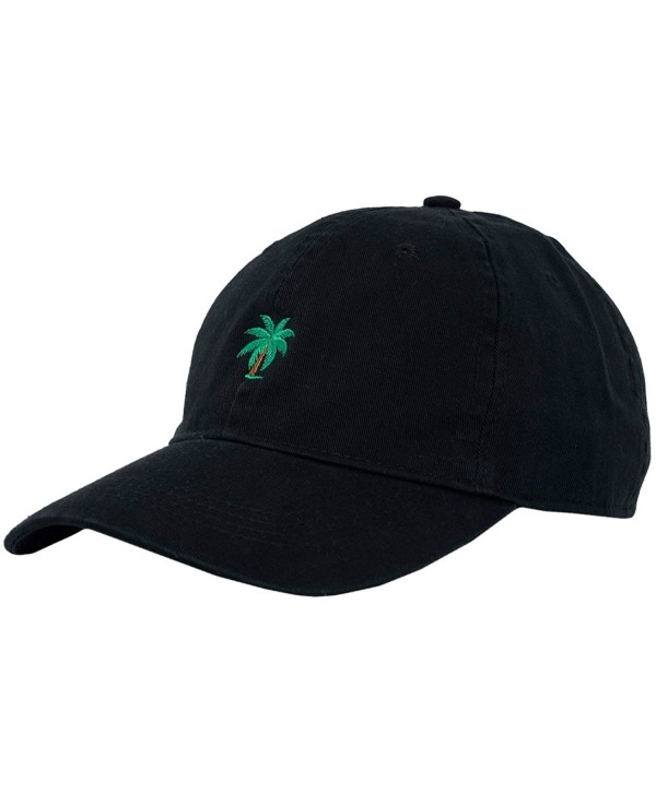 City Hunter C104 Palm Tree Summer Cotton Baseball Cap 15 Colors - Black - C412IPX80P7