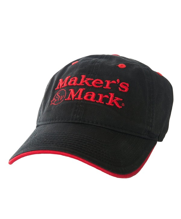 Maker's Mark SIV Embroidered Black Hat with Red Logo - CQ11U5AAMM1