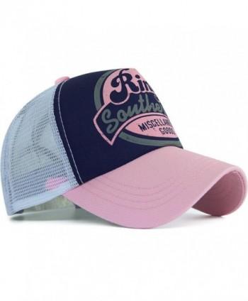 Rayna Fashion Unisex Vintage Trendy Baseball Cap Trucker Hat Beach Travel Hip Hop Ring - Pink - CM12JFSBVXJ