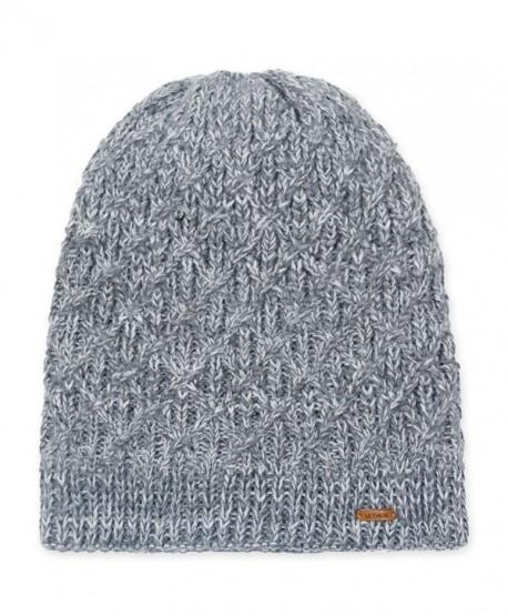 5257d7503a9 ... Light Grey - CW186HGEKE4. lethmik Fleece Lined Beanie Hat Mens Winter  Solid Color Warm Knit Ski Skull Cap - Diamond