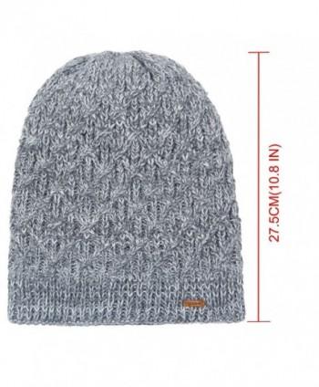 9c3de2e22a6c6 Fleece Lined Beanie Hat Mens Winter Solid Color Warm Knit Ski Skull ...