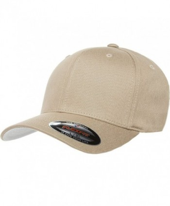 Premium Original Black Flexfit Fitted Hat for Men- Women and Youths - Bonus THP No Sweat Headliner - Khaki - CB184HCDLQH