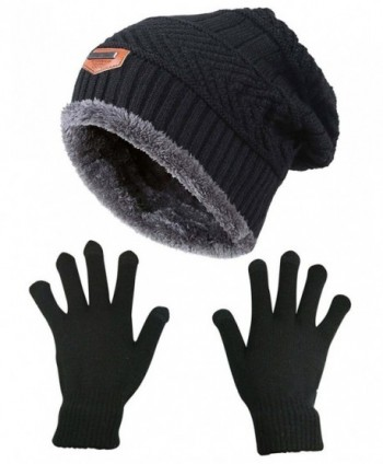 9aa9f87446c Slouchy Beanie Gloves HINDAWI Mittens - Hat and Gloves (Black) - CX1872RX6X7