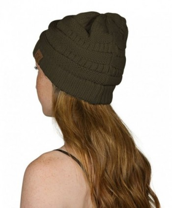 Black Thick Slouchy Oversized Beanie