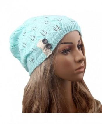 012162986f9b8 ... Tinksky Winter Button Leaves Knitting in Women s Skullies   Beanies