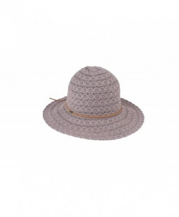 By Summer BYSUMMER C.C Cotton Crochet Lace Bucket Sun Hat - Light Grey - C217YG2SYDT