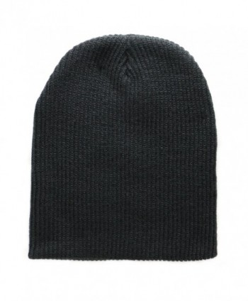 The Perfect Fit For All! Super Soft Black Slouch Knit Beanie for Men and Women - Black - CZ12CGNNV5B
