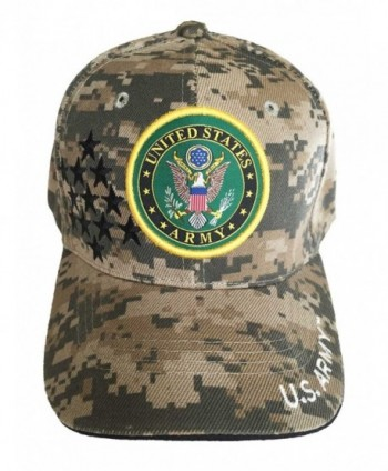 Aesthetinc U.S. Military Army Baseball Cap Officially Licensed Sealed - Camouflage Stars - CW11XUUXDG7