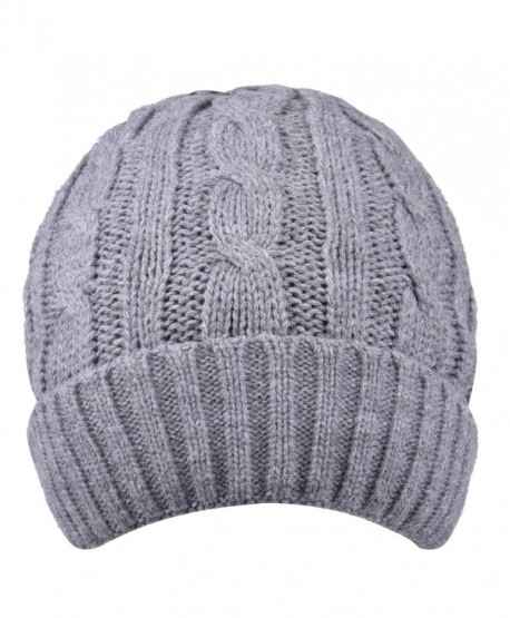 Thick Winter Hats Visors Skull Slouchy Knit Cap Stocking Beanie Hat For  Women - Grey - CQ186NXL9TI 443137924c9