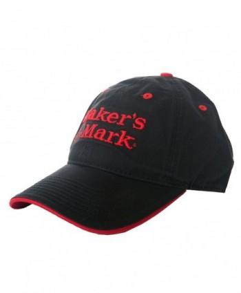 Makers Mark Embroidered Black Logo in Men's Baseball Caps